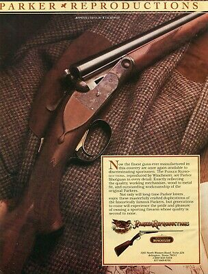 1988 Print Ad of Winchester Parker Reproductions 20 /& 28 Gauge Shotguns