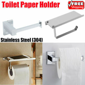 Toilet Tissue Holder Roll Papers Stand Storage Dispensers Wall Mounted Bathroom