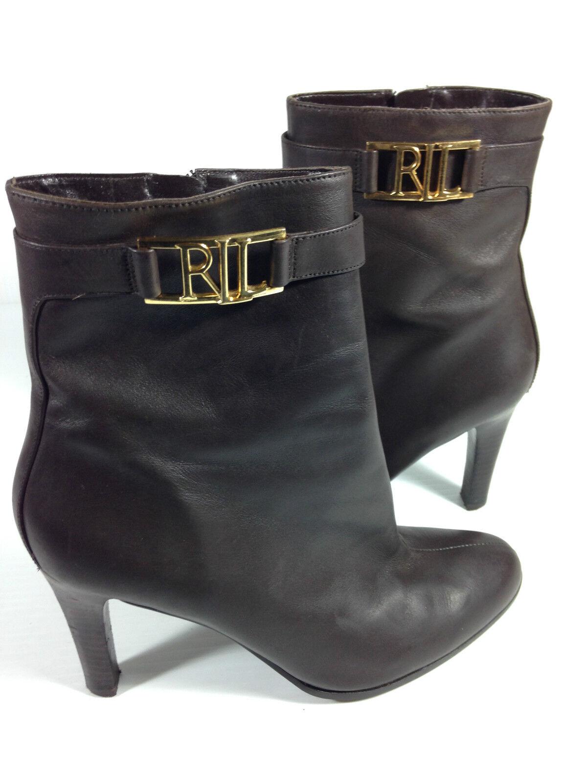 Ralph Lauren braun Ankle Stiefelie Größe 9 US.
