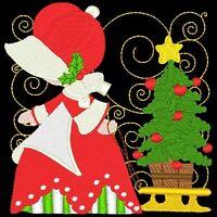 Sunbonnet Sue Christmas- 24 Machine Embroidery Designs (azeb)