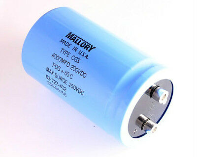 1x 2000uF 200V Large Can Electrolytic Aluminum Capacitor 2000mfd 200VDC DC