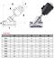 """DN32 1-1//4/"""" BSP de acero inoxidable de acción simple accionado por aire válvula de ángulo de asiento N//c"""