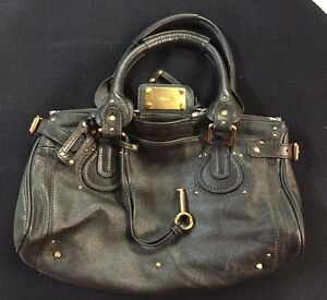 Image Is Loading Authentic Chloe Paddington Shoulder Bag Dark Leather 02