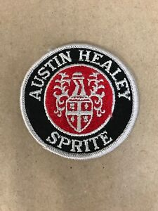 Vtg-Austin-Healey-Sprite-Embroidered-Sew-On-Patch-3-Auto-Racing-Badge-Hot-Rod