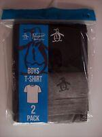 Penguin Munsingwear T-shirt Boys Tee Size Select S M L Xl Black Gray Logo