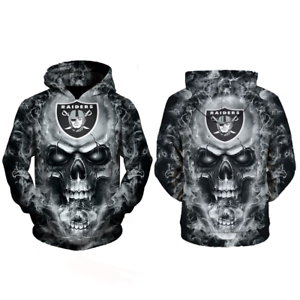 Oakland-Raiders-Sweatshirt-Hoodie-Pullover-Coat-Nfl-Sweater-Football-Men-Team