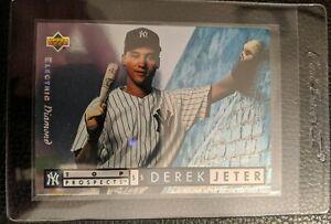 1994-UPPER-DECK-ELECTRIC-DIAMOND-550-DEREK-JETER-NEW-YORK-YANKEES-HOF-GEM-MINT