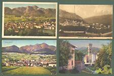 Trentino. CAVALESE, Trento. 4 cartoline d'epoca viaggiate tra il 1923 e il 1932.