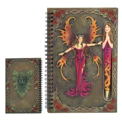 Cahier Fée Vermeil et Stylo