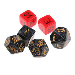 5pcs Sex Dice Positions Adult Couples Game Toy Naughty Bed