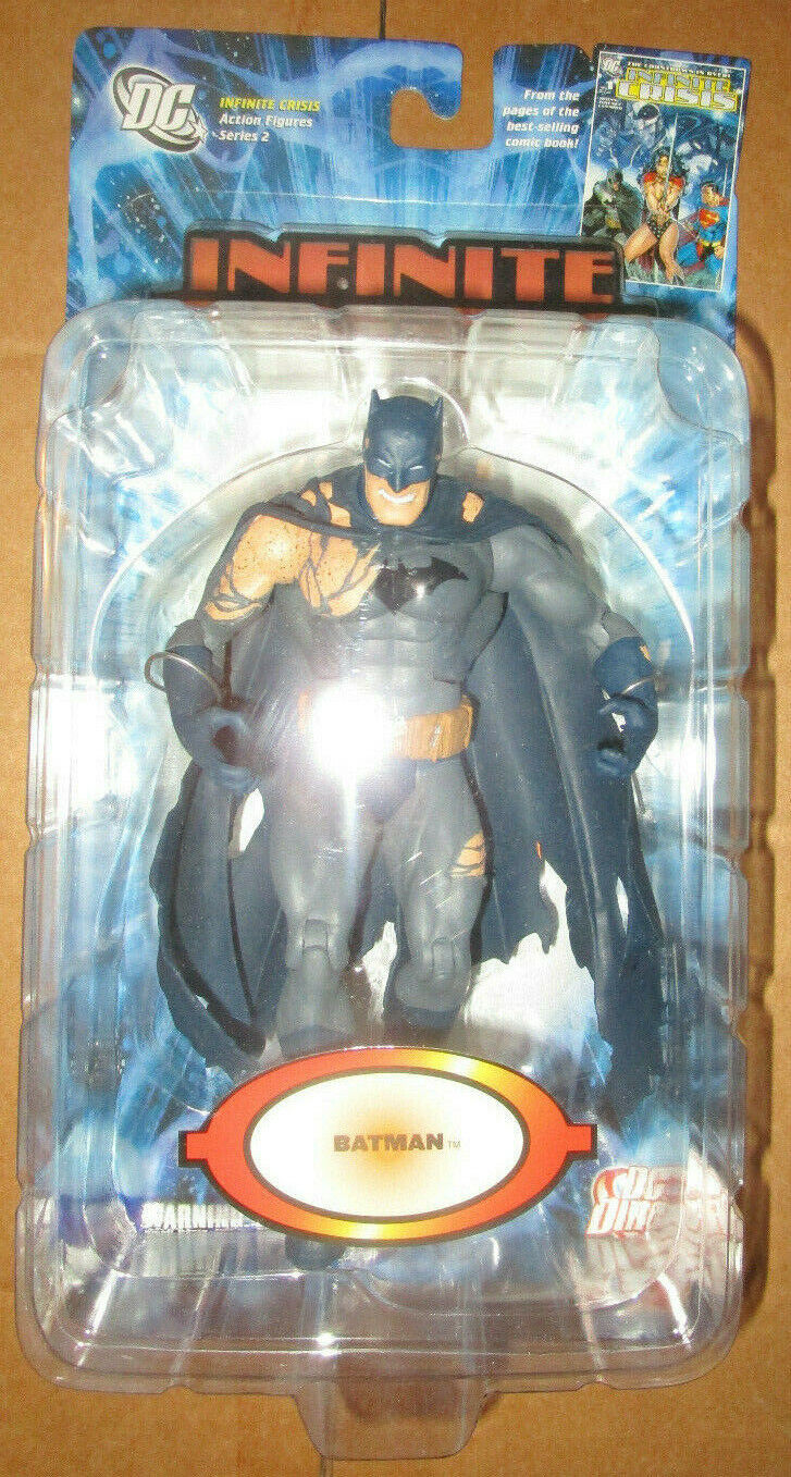 DC Direct Infinite Crisis Serie 2 Figura De Batman Battle Damaged
