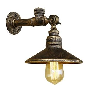 Retro Vintage Industrial Pipe Wall Lamp Iron Water Pipe