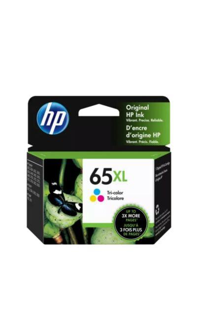 HP 65XL | Ink Cartridge | Tri-color | Genuine | N9K03AN | Exp. June2022