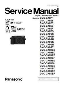 panasonic lumix dmc gx8 gx8h gx8k gx8a service manual ebay rh ebay com Panasonic Lumix DMC ZS3 Panasonic Lumix DMC- TZ10
