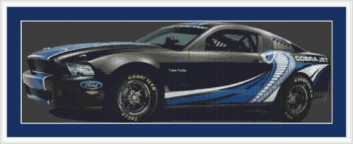 Ford Mustang Cobra Jet Car Cross Stitch Kit