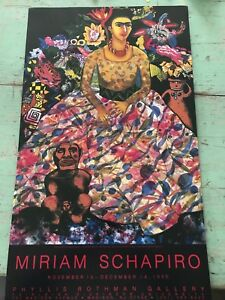 "Miriam Schapiro MCM Vintage Art Poster Frida Kahlo: Frida and Me 20"" x 30"""