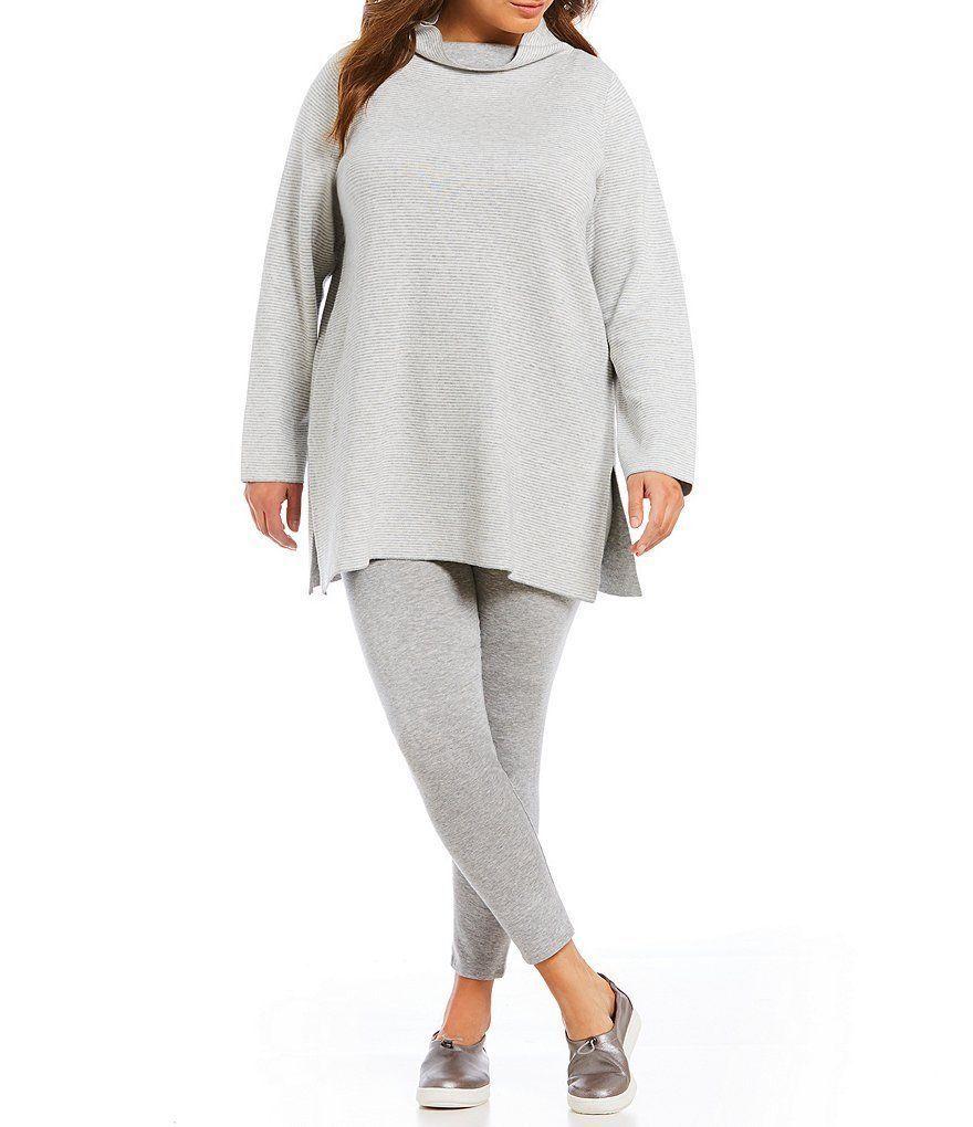 NWT Eileen Fisher Organic Cotton  Cashmere Reversible Long Tunic Storlek 3X  318