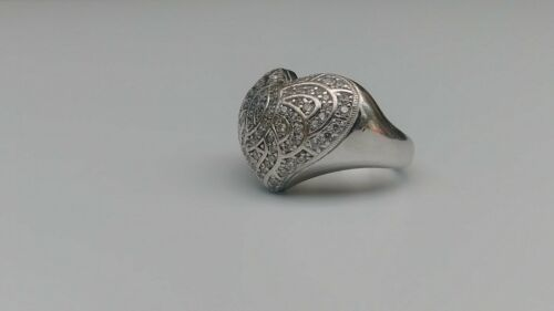 Diamonique Sterling Bombay Heart Ring