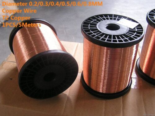 Copper Wire Solid Patterned Bare Type Thermal Plasticity Electrical Conductor 5M