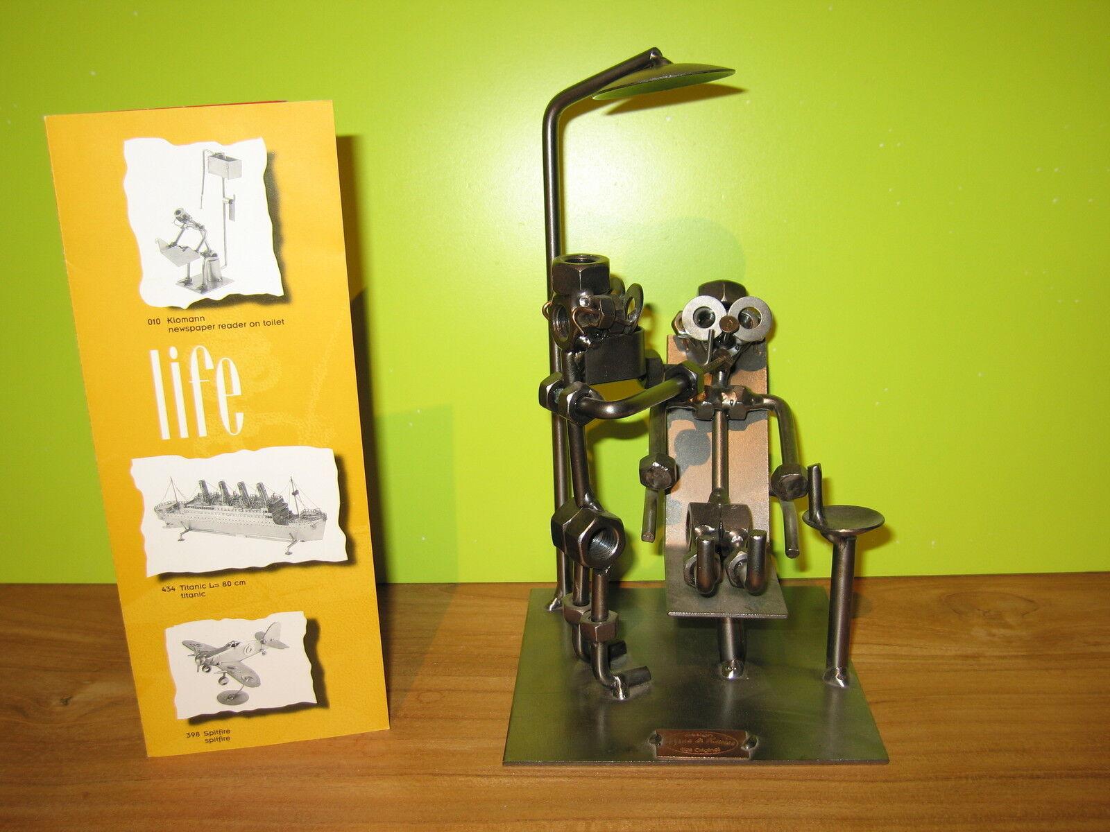 HINZ & KUNST NEW Sujet en fer Dentiste avec patient H.21cm