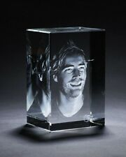 Personalized 3D Crystal Cube High End Laser Engraved Your Own Image-SMALL