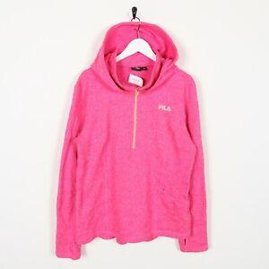 Vintage-Women-039-s-FILA-1-2-Zip-Polyester-Small-Logo-Hoodie-Sweatshirt-Large-L