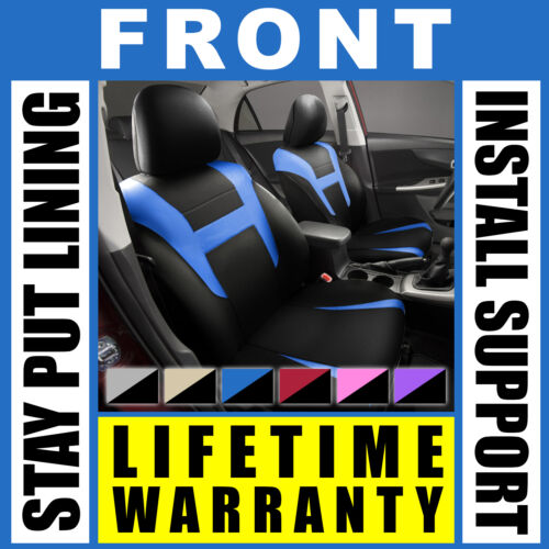Blue /& Black Front Car Seat Covers Set OEM Bucket 2 Pc Pair Truck SUV G63
