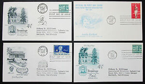 US-Postage-Set-of-4-Covers-Lincoln-Sesquicentennial-Stamp-FDC-US-Letters-H-8318