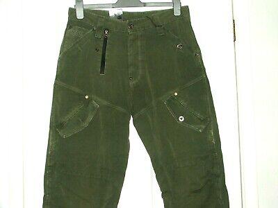 BNWT G STAR RAW 5620 LOOSE Combat Vert Toile Jeans, Cargo de W33