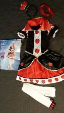 Disney Kids Alice 120 Of In Wonderland 140cm Hearts Queen Costume wN80OnkZPX
