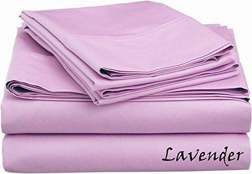 Lavender Solid All Bedding Sets Item Choose Größe & Item 1000TC Pure Egypt Cotton