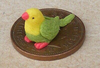 2019 Nuovo Stile 1:12 Scala Hand Made Fimo Piccolo Parrot Tumdee Casa Delle Bambole Giardino Bird Zb-mostra Il Titolo Originale Con Metodi Tradizionali