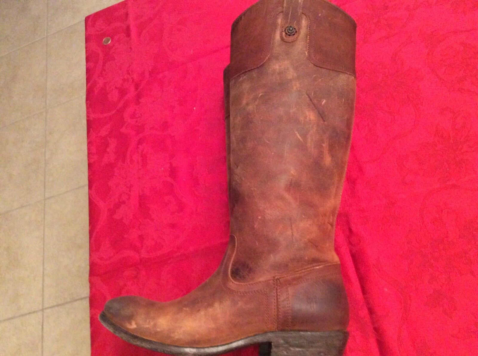 RARE frye Carson Riding bottes Taille 8.5B Womans Womans Womans Distressed 985215