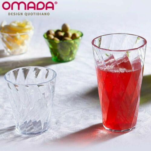 Omada Design 4 unzerbrechliche und spülmaschinenfeste Trinkgläser 40cl