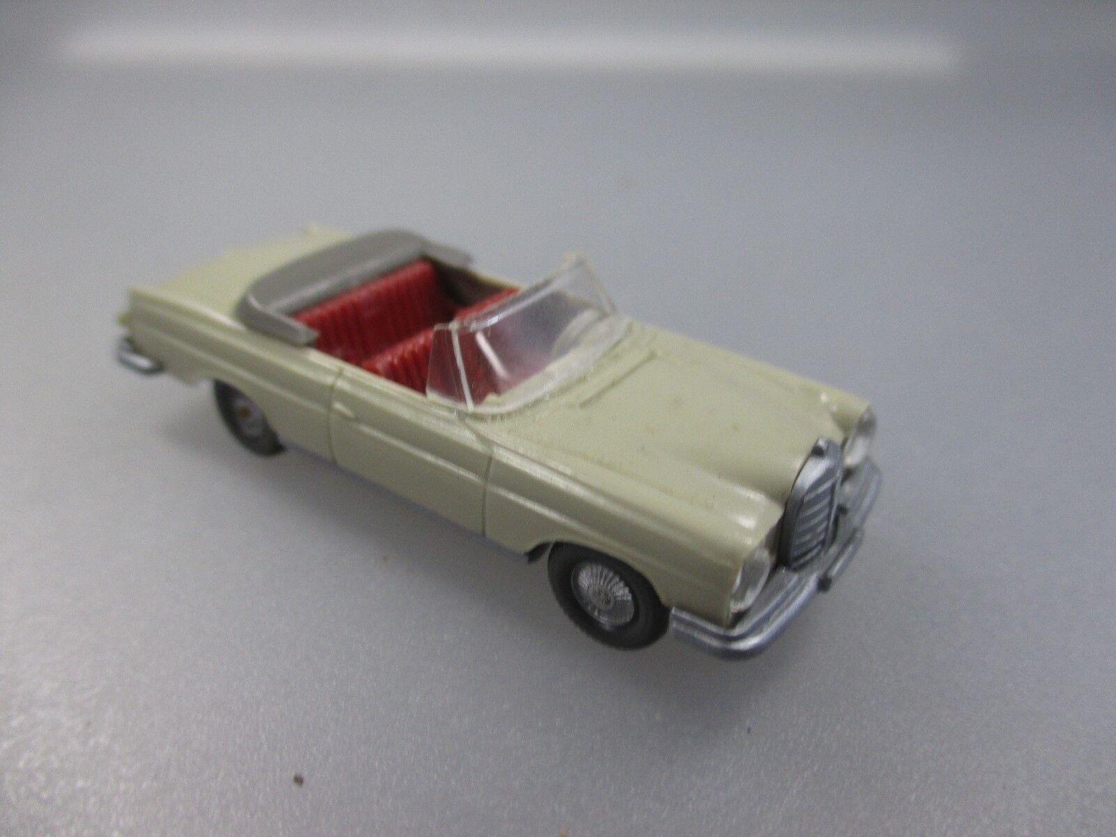 Wiking  MB 300SE Cabriolet, hellgelbgrau, rar, Saure HB 382 3D (Schub91)