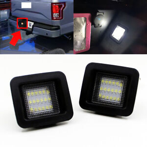 2-Error-Free-LED-Number-License-Plate-light-Tag-Lamp-For-2015-2018-Ford-F-150