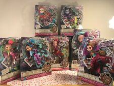 Ever After High Way Too Wonderland Doll Lot! Playset & 8 Dolls! Briar, Apple...