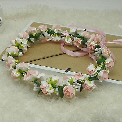Head Wreath Flower Crown Floral Halo Headpiece Photography Tool Wedding Supply
