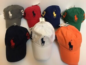 Polo Ralph Lauren Men/'s Baseball Hat Pony One Size Adjustable Strap Assorted NWT