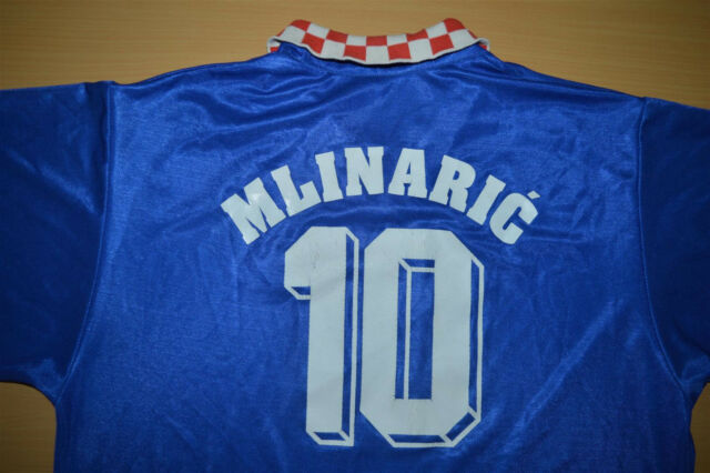 Vtg CROATIA ZAGREB FOOTBALL SOCCER SHIRT JERSEY 1995 DINAMO Match Worn Issue