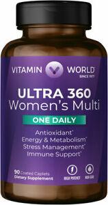 Vitamin World Ultra 360 Women's Multi - One Daily - 90 Caplets