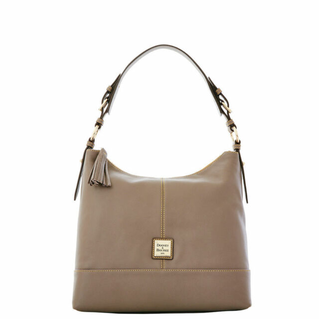 5f71bfabb4 Dooney   Bourke Sophie Hobo 100% cowhide leather shoulder bag in Taupe NWT