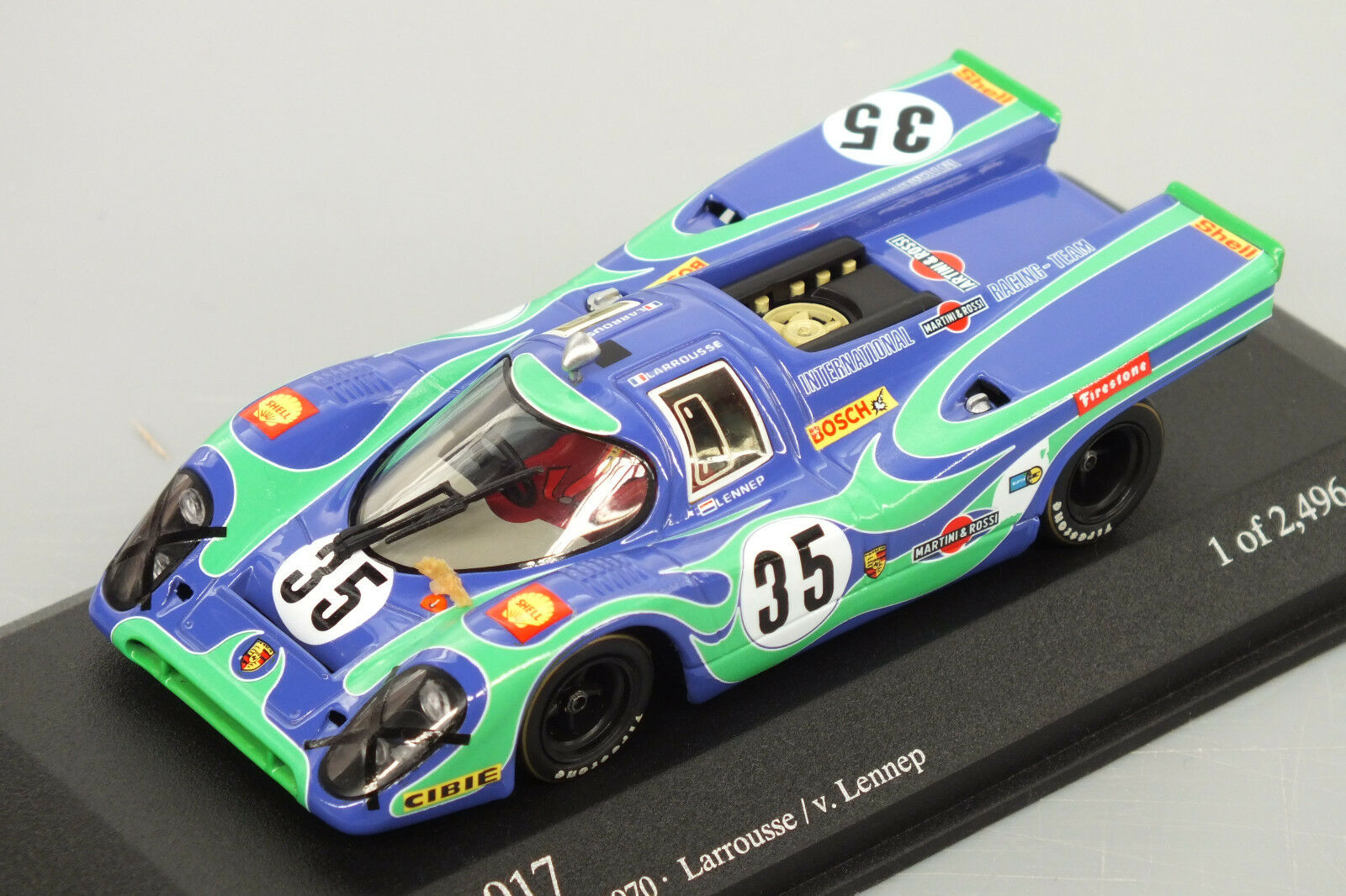 MINICHAMPS-430706735-  PORSCHE 917 N° 35 G. Larrousse  6hrs Watkins Glen 1970