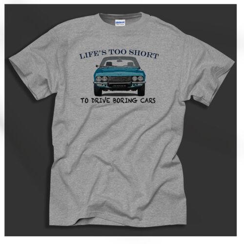 Life...Jensen Interceptor 1960/'s 70/'s British Super Car Retro Grey Gift T-Shirt