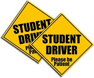 Student-Driver-Sticker-Bright-Yellow-Safety-Decal-School-Teen-Driver-4-034-2-Pack