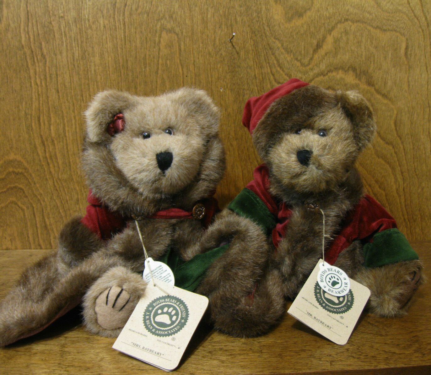 Boyds Plush  917312 917314 MR & MRS BAYBEARY BAYBEARY BAYBEARY 10  nuovo Tags From Retail Shop XMAS 35aaca