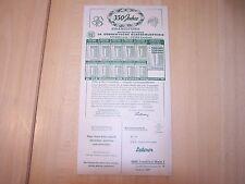 Spielplan und Beteiligungskarte der 34. Süddeutschen Klassenlotterie 60er Jahre