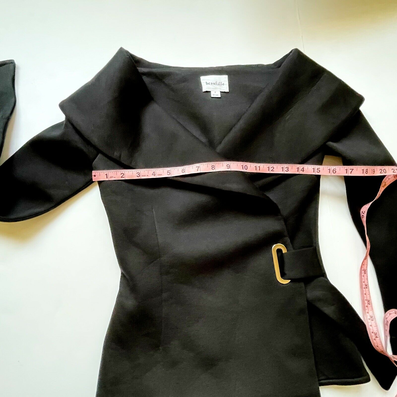 Beaufille Women's Clothing Size 2 Black Large Col… - image 8