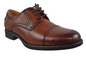 Mens-Florsheim-Comfortech-Midtown-Cap-Toe-Cognac-Oxford-Shoes-12138-221