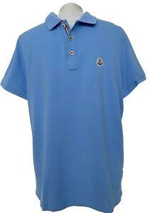 MONCLER MEN'S BLUE POLO SHIRT, XL, $395